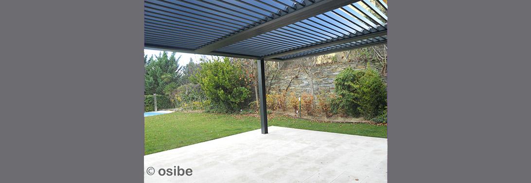 Techos y p rgolas de lamas m viles orientables de aluminio for Lamas aluminio techo