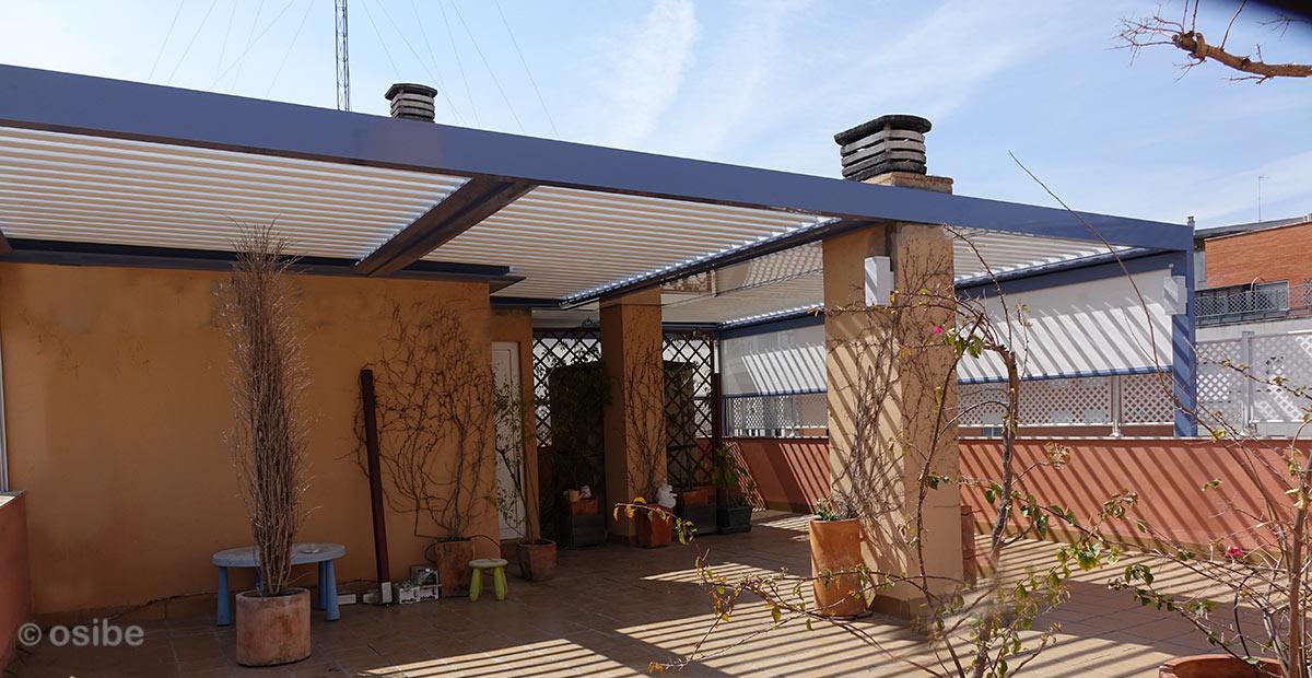 Pergolas de lamas orientables pergolas de aluminio con lamas orientables by osibe proyectos sl - Pergola terraza atico ...