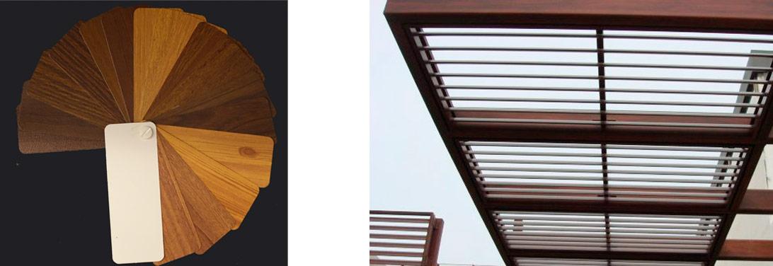 Acabados pergola de lamas orientables - Perfiles de aluminio para pergolas ...
