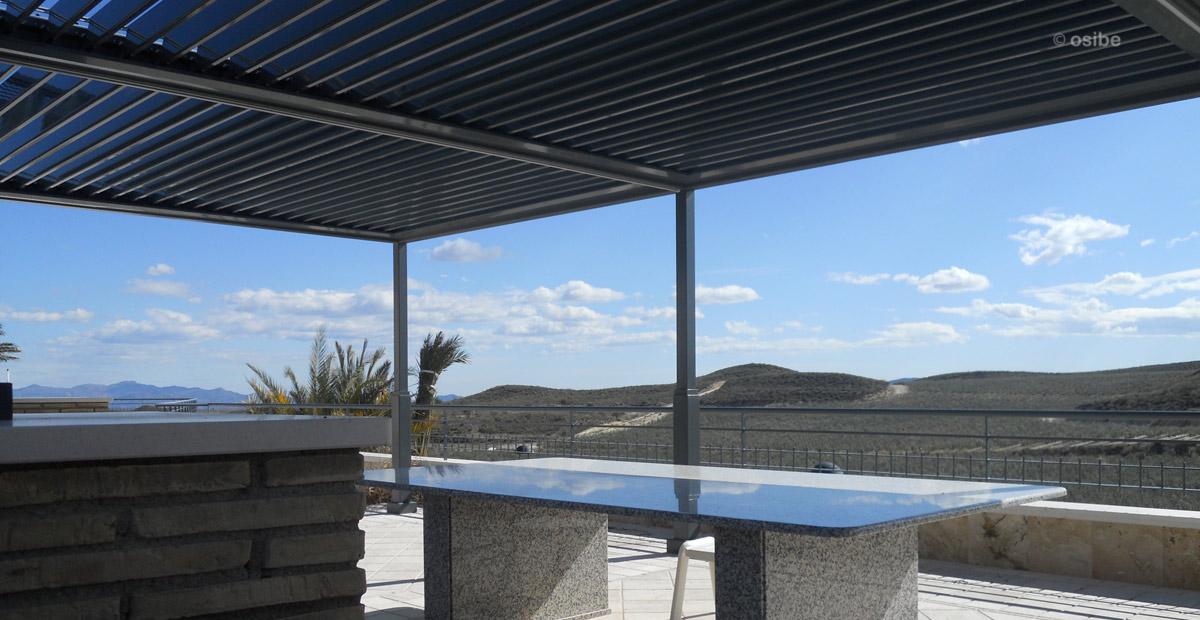 Pergola moderna pergola lamas diseo aluminio terraza viento pergola moderna con cubierta - Pergolas modernas ...